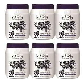 Kit 6 Maria Escandalosa Botox Matizador Violet 1kg
