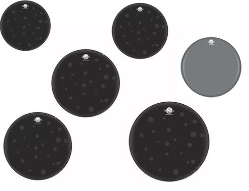 Imagem 1 de 4 de Kit Pele Hydraglide Black 8,10,12,14,16,22 + Coated 14 Luen