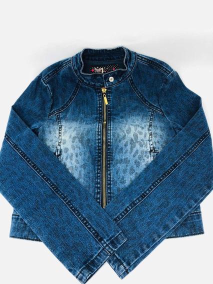 Jaqueta Colcci Fun Jeans Menina Com Bolso 30% Off