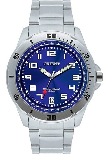 Relógio Orient Mbss1155a D2sx Mostrador Azul Bisel Numérico