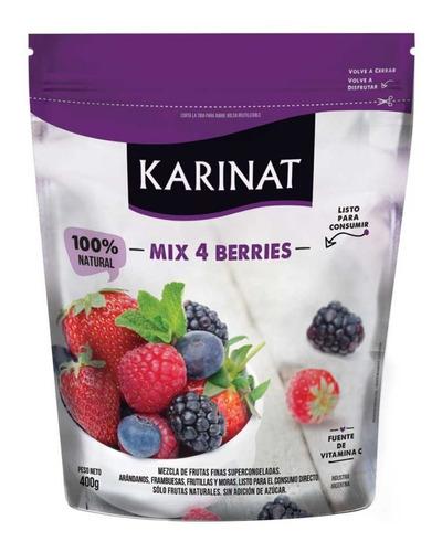 Imagen 1 de 6 de Fruta Congelada Mix Berries Karinat X 400g