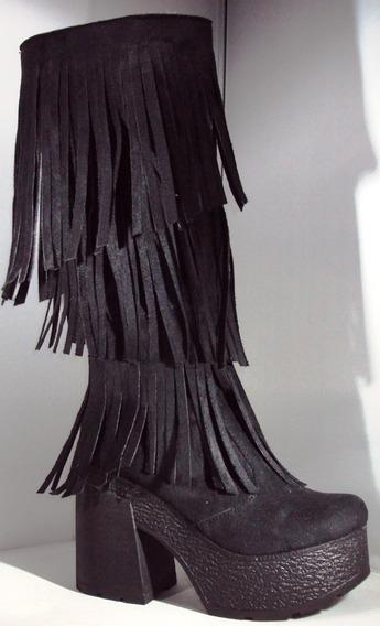 Bota Mujer Con Flecos Otoño-invierno 2017 Mod: Marga 500