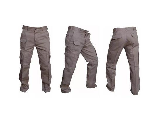 Pantalon De Trabajo Gaucho Cargo Beige 38 Al 54 Ahora 18