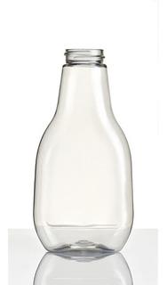 50 Botellas Salseras Pet 250ml, Miel, Jarabe, Transparente