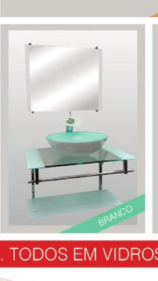 Gabinete De Vidro Com Espelho 70x50