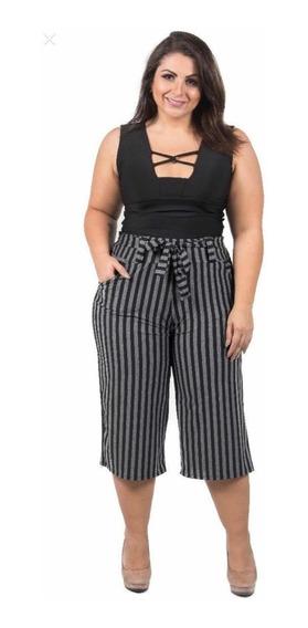 Calça Plus Size Feminina Pantacurt - Promoção 30% Off Tamanhos Grandes