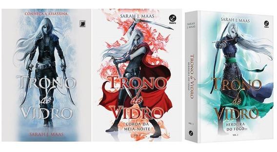 Kit Trono De Vidro Volumes 1 2 3 (3 Livros) Sarah J. Maas