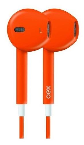 Fone De Ouvido Intra Auricular Microfone Oex Fn204 Laranja