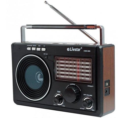 Rádio Mp3 Caixa Som Am Fm Funciona Pilhas, Bateria, Energia