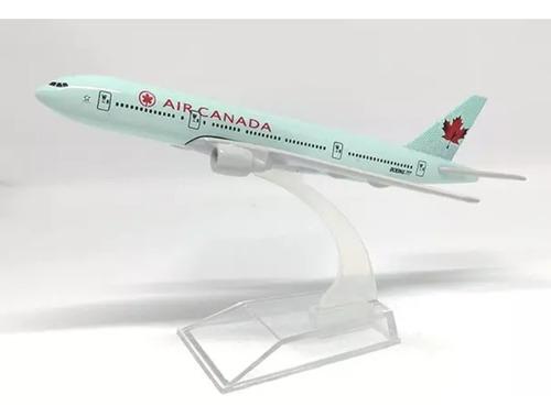 Avión Boeing 777 E: 1:400 Air Canada Mide 16 Cm Metálico
