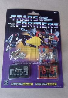 Transformers G1 Ravage Y Rumble Cassettes Decepticons!