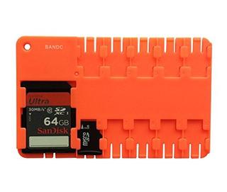 Bandc 2pcs Red Micro Sd / Sdhc / Sdxc Funda De Almacenamient
