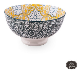 Ensaladera Vintage Porcelana Estampada Lavavajilla Microonda