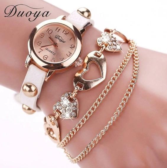 Relógio Bracelete Feminino Duoya Xr746