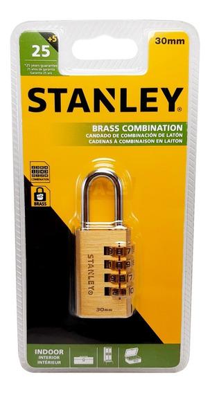 Candado Reforzado Stanley Combinación 30mm Seguridad Locker