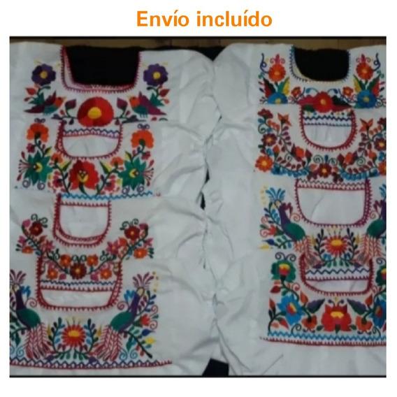 Blusa Artesanal Bordada /pedido Especial /13 Pzas Talla 10