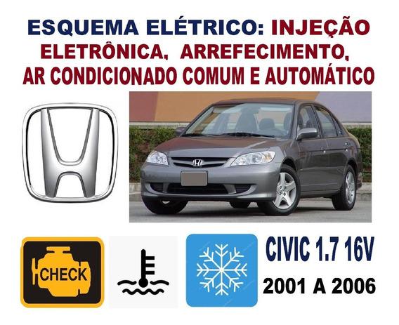 Esquema Elétrico Injeção Civic 1.7 16v 2001/2006 Ler Anúncio