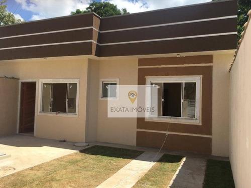 Imagem 1 de 15 de Casa Linear Com Quintal Independente, Extensão Serramar/ Rio Das Ostras! - Ca1070
