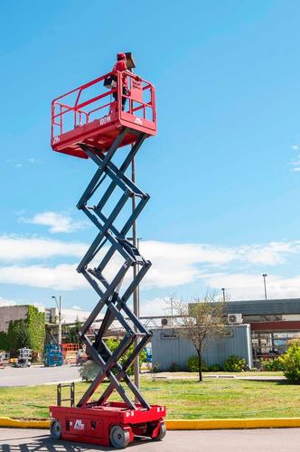 Plataforma Elevadora Tijera  Alo Lift 10 Mtrs Alt De Trabajo