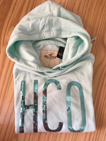 Moletom Feminino Hollister Verde Claro - Modelo 02