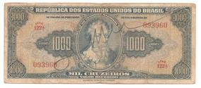 C048- Cédula 1000 Cruzeiros - Autografada - 1943(mbc)