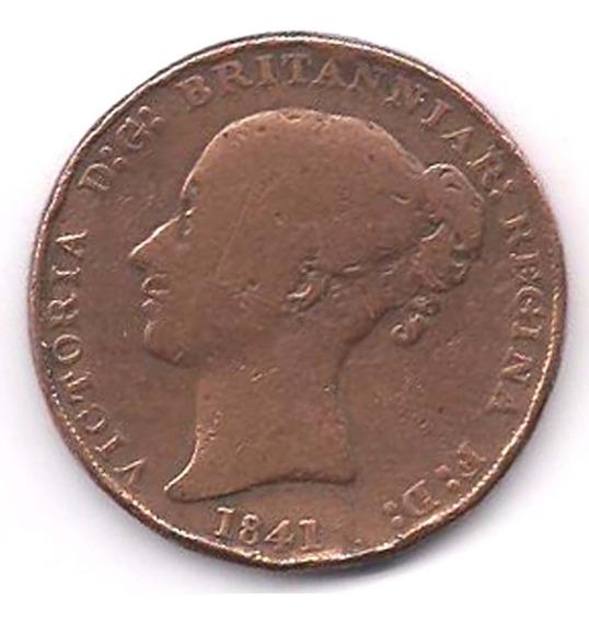 Moneda Antigua Libra De Jersey Victoria 1/26 Chelin 1841