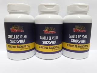 Kit 3 Canela De Velho + Sucupira + Cloreto De Magnésio Pa