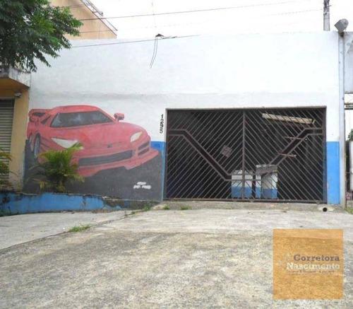 Imagem 1 de 6 de Galpão Para Alugar, 270 M² Por R$ 1.800,00/mês - Jardim Esperança - Jacareí/sp - Ga0135