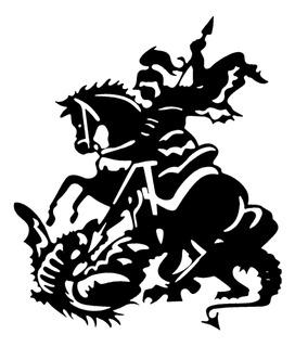 Adesivo De Parede - São Jorge Religioso Ogum 115x81cm