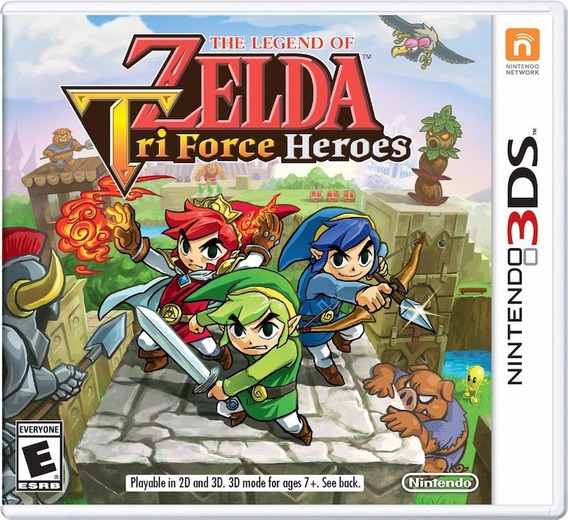 Jogo Novo The Legend Of Zelda Tri Force Heroes Nintendo 3ds