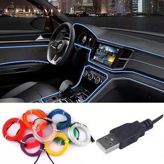 Hilo Tira Luz Neon Colores Led Usb 12v Auto Moto 3m / 215070