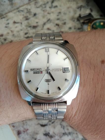 Único Relógio Seiko 6119-7130 Fabricado Em Abril De 68 Janela Dupla Com Mostrador Prata Perfeito