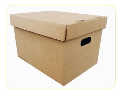 Caja Carton Para Archivo Mudanza Ref X300 + Tapa Packing Box