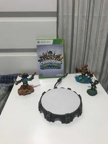 Jogo Skylanders Original Xbox#com Três Bonecos, Portal E Cd#