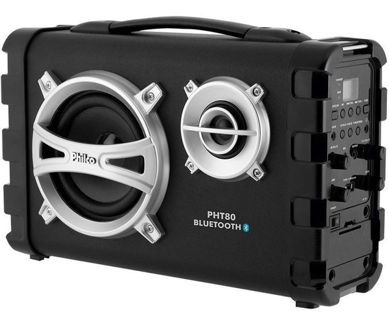 Caixa Som Amplificada Philco 80w Bluetooth Usb Mp3 Fm Pht80