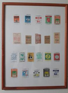 Boletos De Micro De Colección. Enmarcados