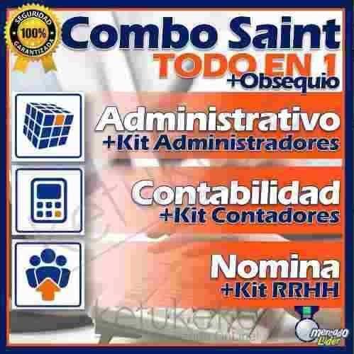 Kit Combo Software Administrativo Contabilidad Nomina Saint