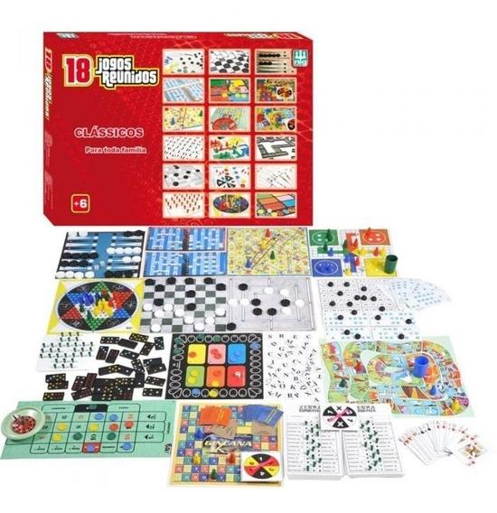 Jogo De Tabuleiro 18 Super Jogos Clássicos Reunidos Nig 1164