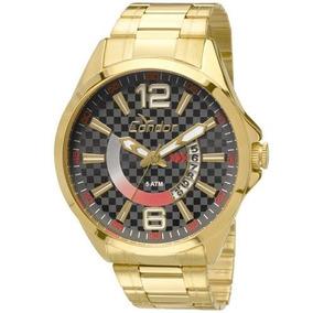 Relógio Condor Masculino Dourado Visor Preto Co2115vh 4c