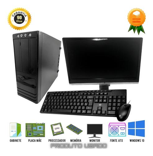 Imagem 1 de 6 de Pc Completo Core2quad 4gb 320gb Monitor 19p Teclado E Mouse