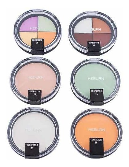 Heburn Kit X6 Correctores Cremoso Maquillaje Rostro Ojos 305