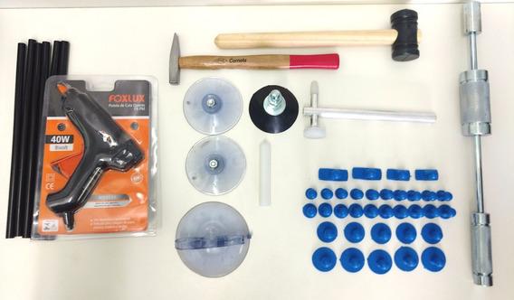 Kit Repuxadeira Martelinho De Ouro Prata Nylon+fibra Azul