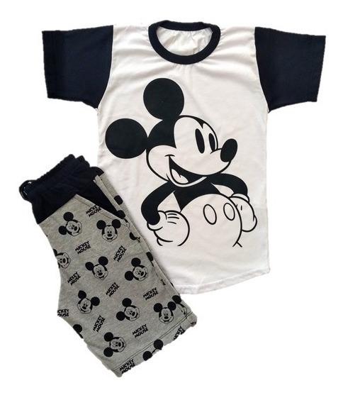 Conjunto Infantil Menino Mickey Mouse Modinha -roupa - 2 A 8