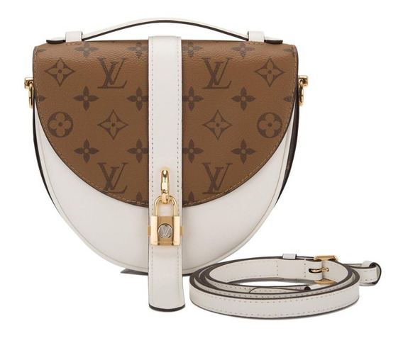 Chantily Lock Monogram Reverse Branca Couro Legítimo Premium Top Louis Vuitton Com Código Série Acompanha Dust Bag 24 Hr