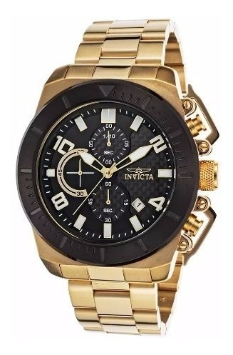 Invicta-23406 Pro Diver Chrono Ouro 18k Pronta Entrega