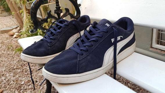 Zapatillas Puma Smash Adp, Color Azul, Perfecto Estado...