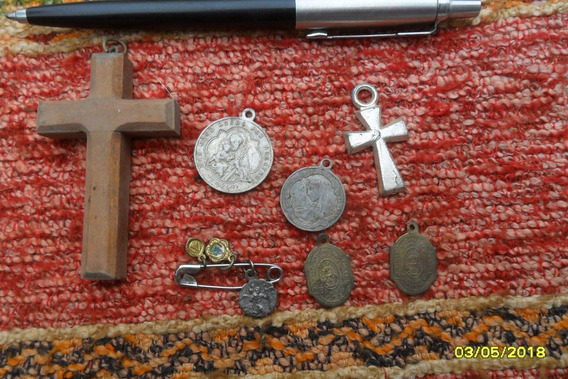 Lote Antiguas Medallas Crucifijo Varias