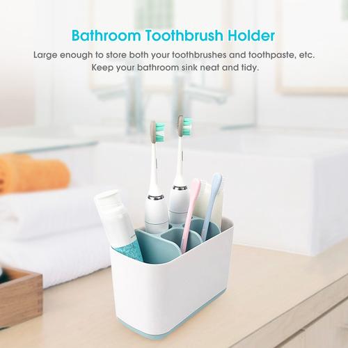 Lebeaut Cepillo de dientes desmontable Caja de almacenamiento Ba/ño Cepillo de dientes el/éctrico Dispensador Estante Organizador de pasta de dientes Estante