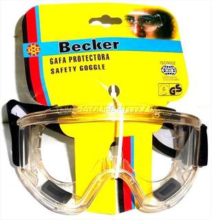 Lentes Seguridad Becker Gafa Protectora Industrial Paintball