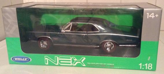 Auto De Colleción Welly 1966 Pontiac Gto Escala 1:18 Verde